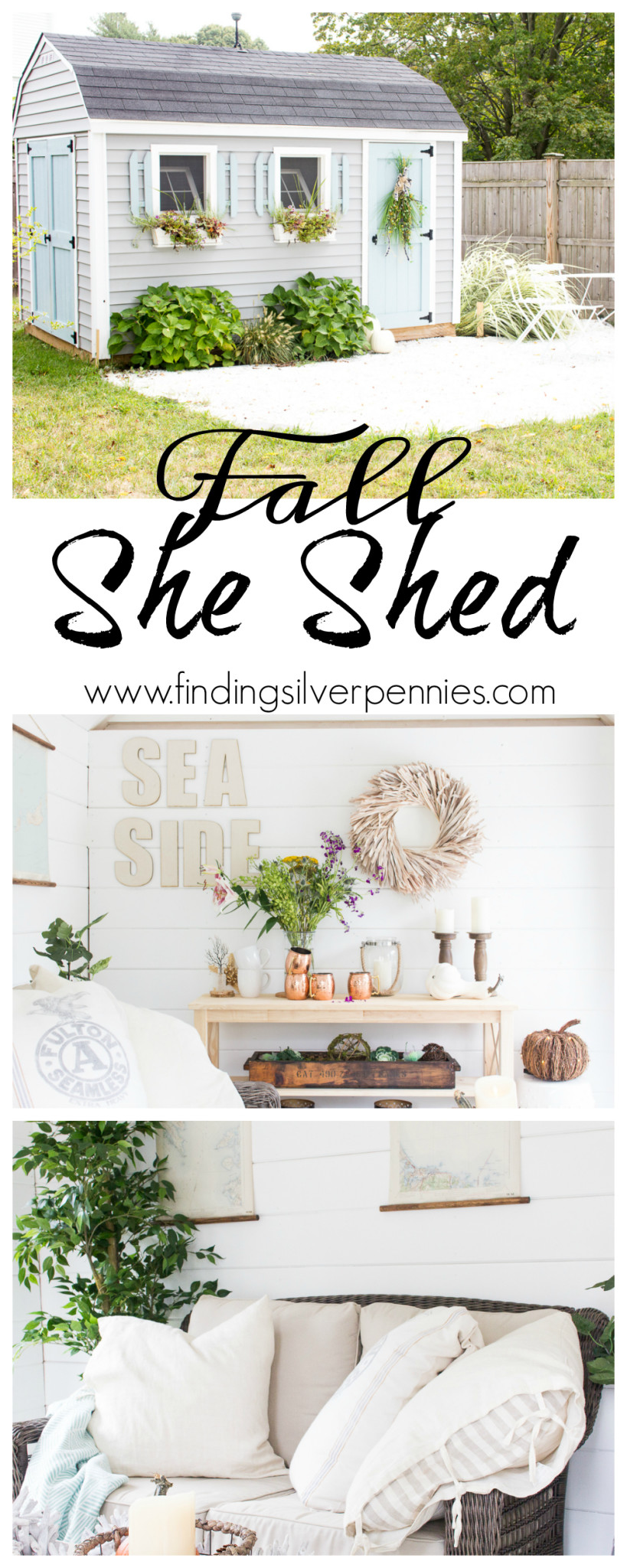 Fall in the She Shed I Finding Silver Pennies I www.findingsilverpennies.com