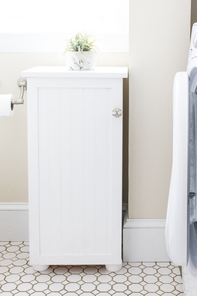 The Best Coastal Paint Colors I Finding Silver Pennies - Bone White in our Half Bath