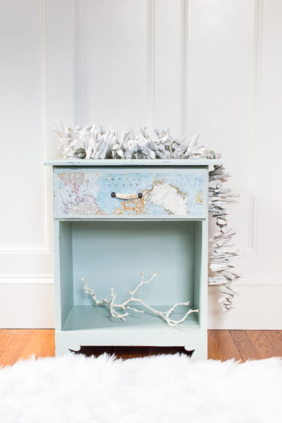 How to paint a beach inspired nightstand