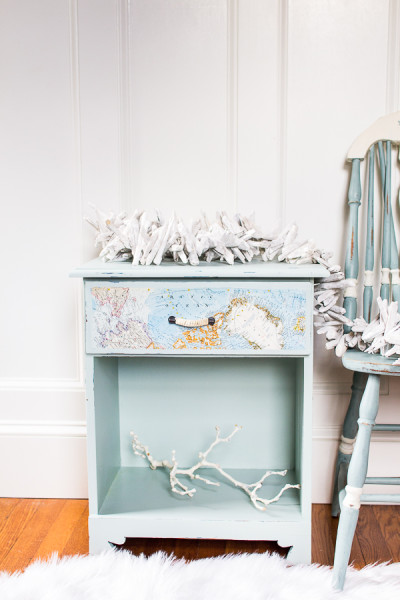 How to Paint a Coastal Nightstand