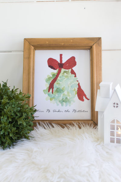 Kiss Me Under the Mistletoe Free Printable by Finding Silver Pennies