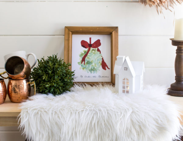 picture about Printable Mistletoe referred to as Kiss Me Beneath the Mistletoe Watercolor Cost-free Printable
