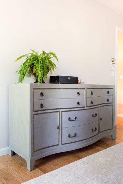 Chalk Paint transformed this dresser to a classy statement piece.