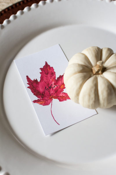 Maple Leaf Free Printable - perfect for place cards