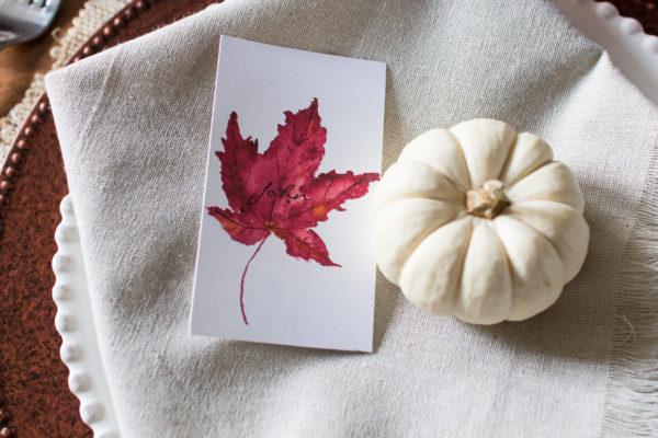 Watercolor Maple Leaf (Free Printable)