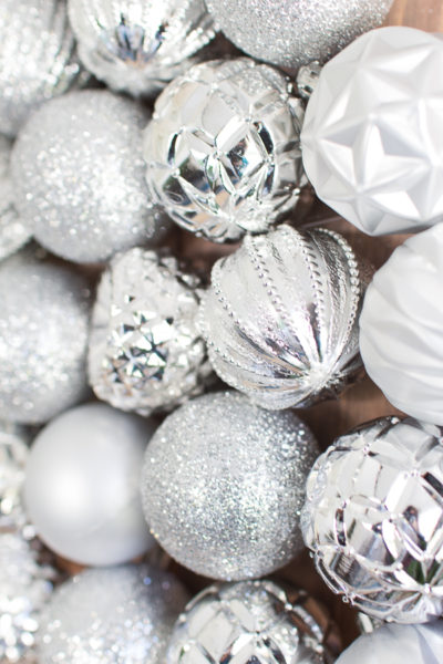 Sparkling Silver Ornaments - perfect for crafts and decorating.