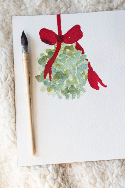Mistletoe Watercolor Free Printable