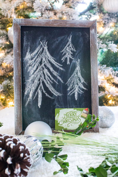 Farmhouse Chalkboard Gift Card Holder I Finding Silver Pennies
