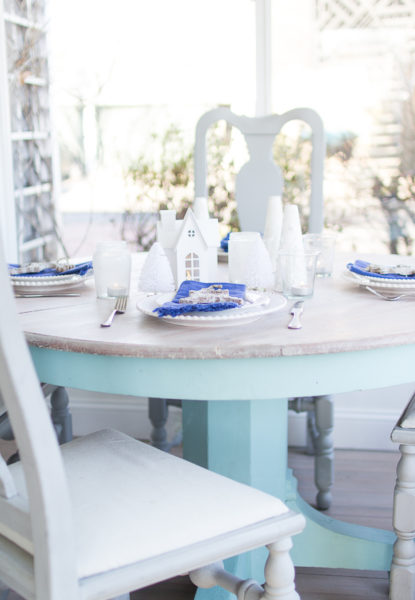 A Coastal Christmas Tablescape with Saltwash I Finding Silver Pennies