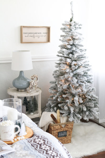 cozy-christmas-master-bedroom-retreat-ideas-flocked-tree