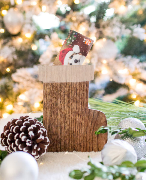 Farmhouse Wood Stocking Gift Card Holder I Finding Silver Pennies