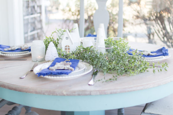 Pretty Winter Tablescape I Finding Silver Pennies