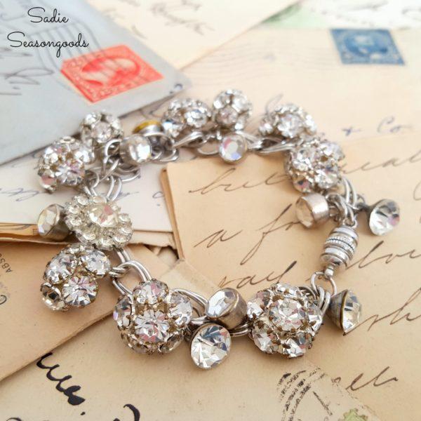 9_vintage_rhinestone_shank_button_DIY_repurposed_charm_bracelet_by_Sadie_Seasongoods