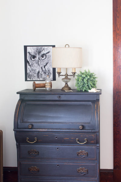 A Distressed Desk & Simple Winter Decorating On A Budget I Finding Silver Pennies