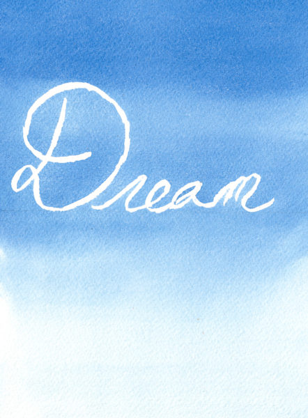 Word of the Year 2017 - Dream I Free Printable I Finding Silver Pennies