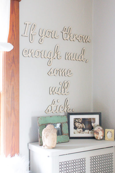 Inspiring Words in my Home Office I Finding Silver Pennies