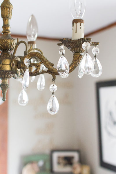 Antique Chandelier in My Home Office I Finding Silver Pennies