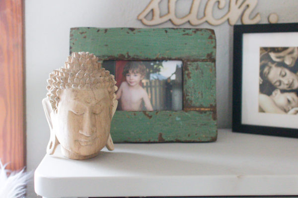 Family Photos and Carved Buddha