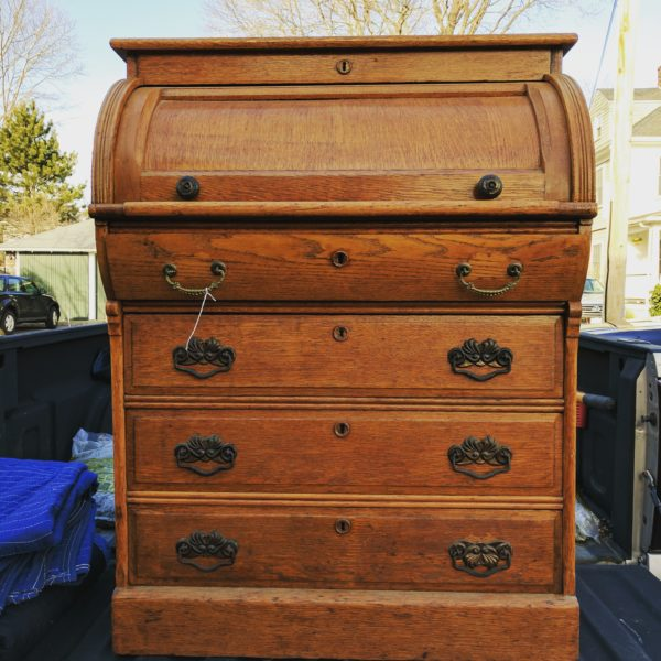 antique roll top desk before i finding silver pennies