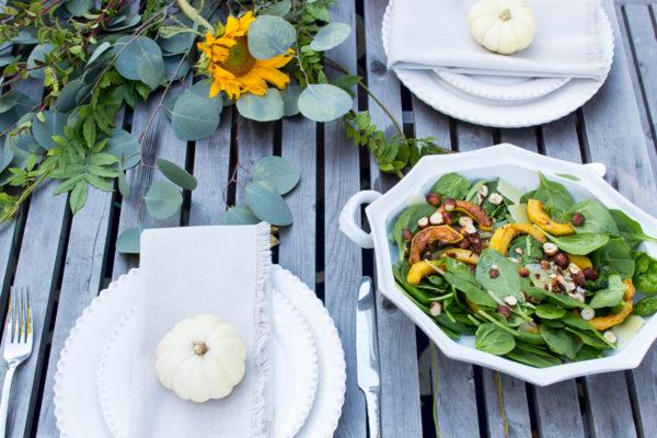 Toasted hazelnut salad