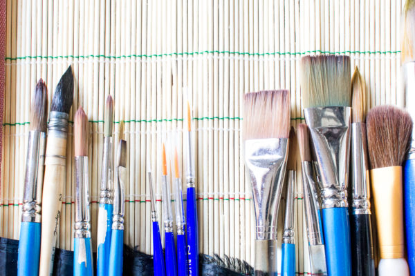 Paint brushes Home Office Reveal I Finding Silver Pennies
