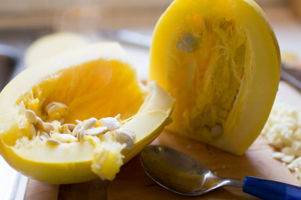 Quick and easy way to cook spaghetti squash I Finding Silver Pennies