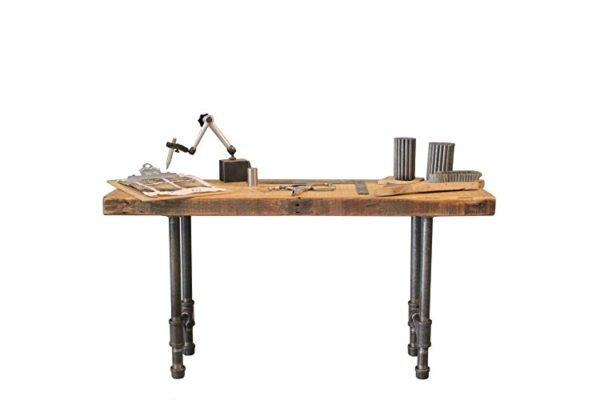 Barn Wood Bench with Steel Pipes I Modern Industrial Desks to Love