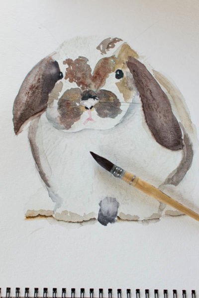 Watercolor Bunny I Free Printable I Finding Silver Pennies