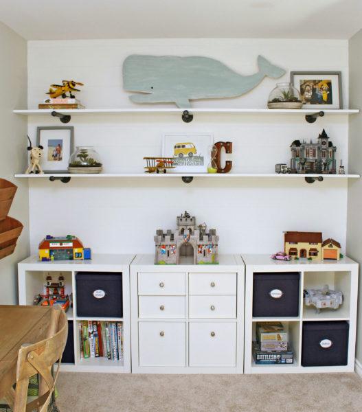 DIY Industrial Shelves I Home Decluttering Diet