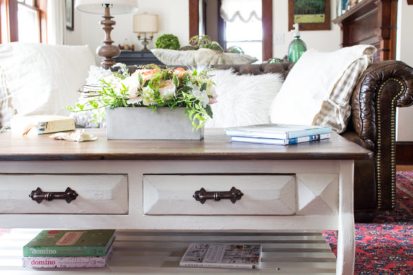 How to Create a Coastal Textured Coffee Table with Video Tutorials I Finding Silver Pennies