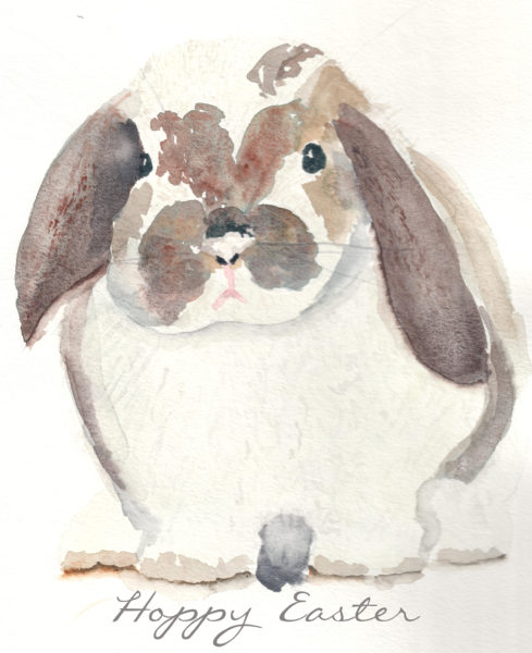 Watercolor Bunny (Free Printable)