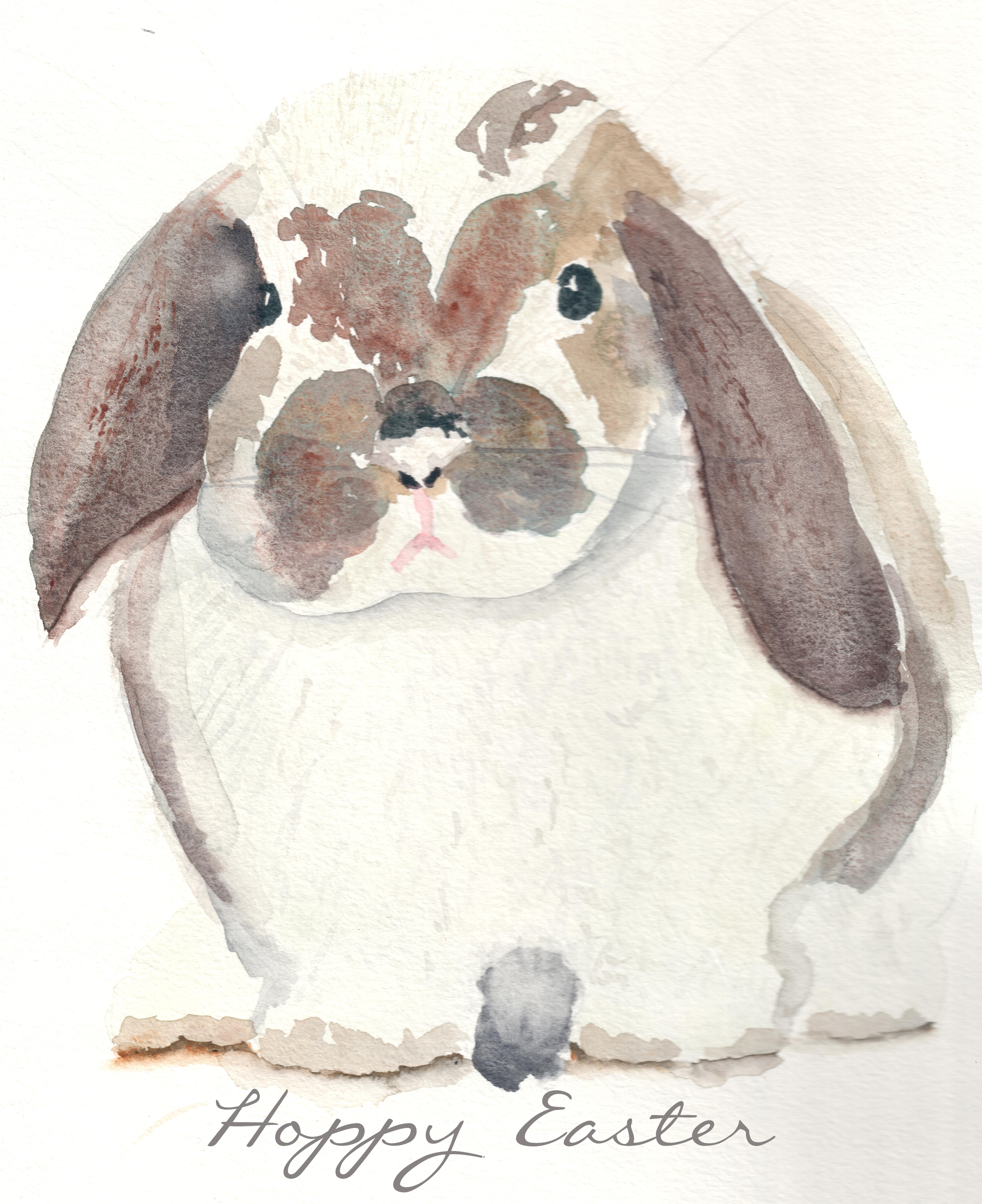 watercolor bunny free printable finding silver pennies