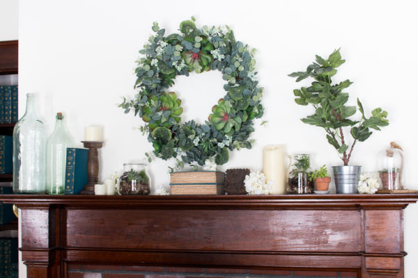 Gorgeous Succulent Wreath I Spring Decorating - Finding Silver Pennies