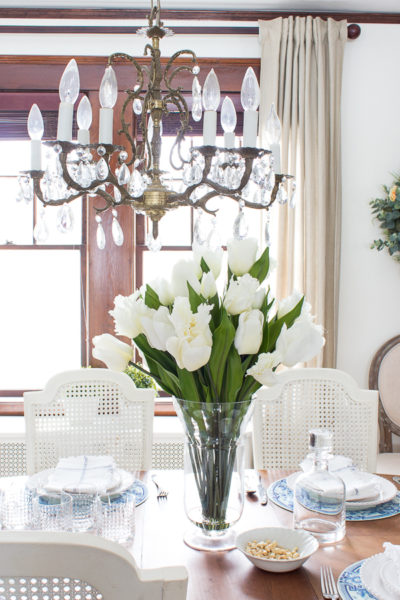 Spring Florals in the Dining Room I Finding Silver Pennies