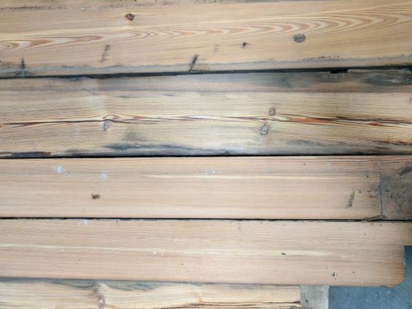Reclaimed Heart Pine for the Dining Room I Finding Silver Pennies