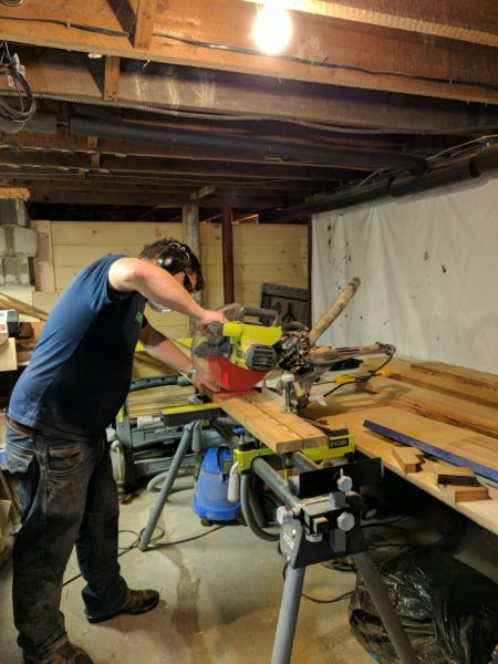 Building our New Reclaimed Pine Dining Table I Finding Silver Pennies