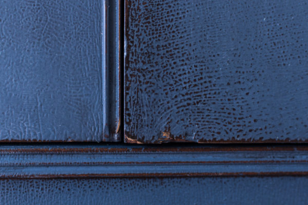 Close up of Distressed Milk Paint in Artissmo I Finding Silver Pennies