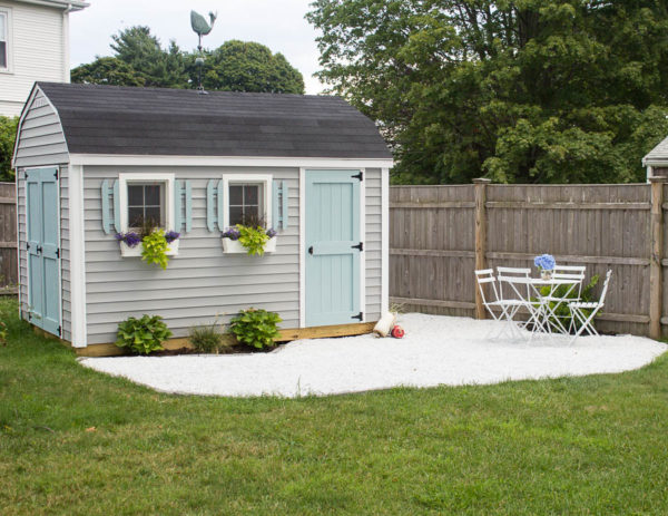 A Gravel Patio and Our She Shed I Finding Silver Pennies