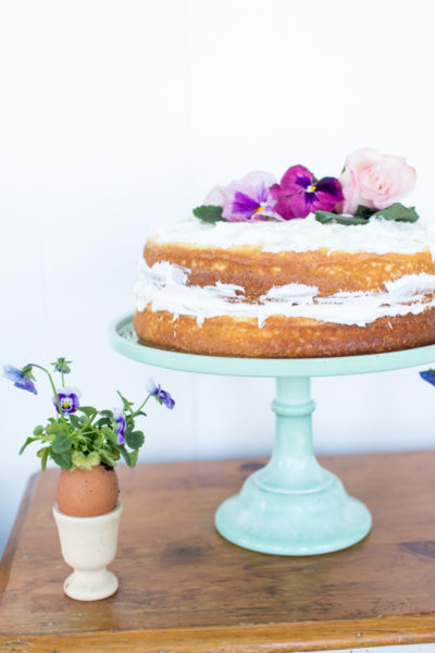 How to Make a Naked Cake for Spring I Finding Silver Pennies
