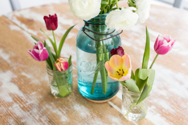 Farmhouse Flowers and a Weathered Table Top I Finding Silver Pennies