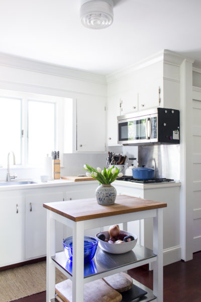 The Best Coastal Paint Colors I Finding Silver Pennies - White Dove in Our Kitchen