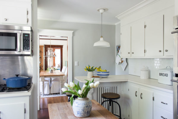 Bright White Cabinets Make Our Small Kitchen Brighter I Finding Silver Pennies