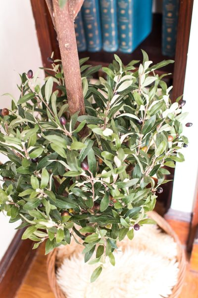 Faux Olive Topiary I Finding Silver Pennies