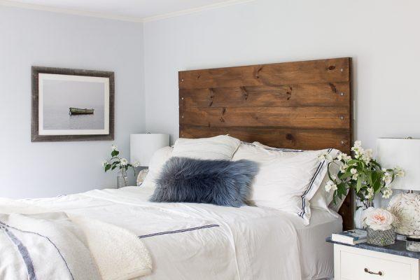 Rustic headboard - our bedroom before