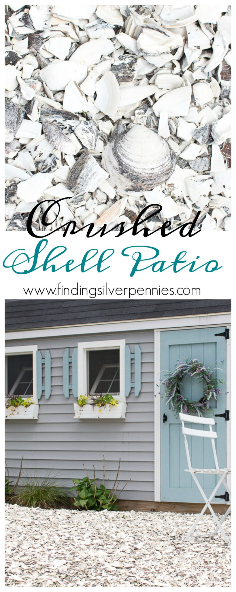 Crushed Shell Patio - Favorite DIY - Finding Silver Pennies