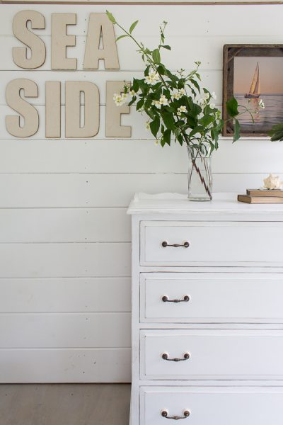 A distressed dresser for a baby's room I Finding Silver Pennies