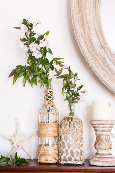 Simple Mantel for Summer