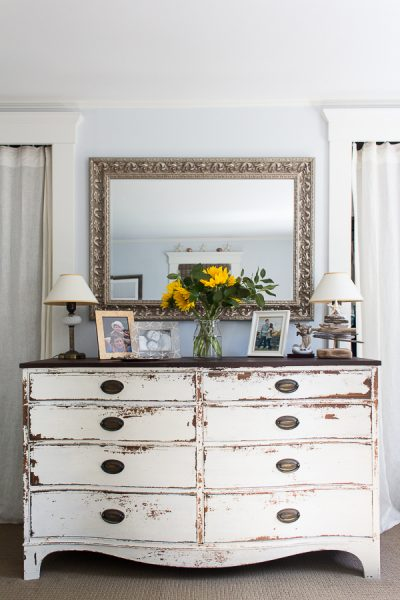 White Chippy Dresser by Finding Silver Pennies