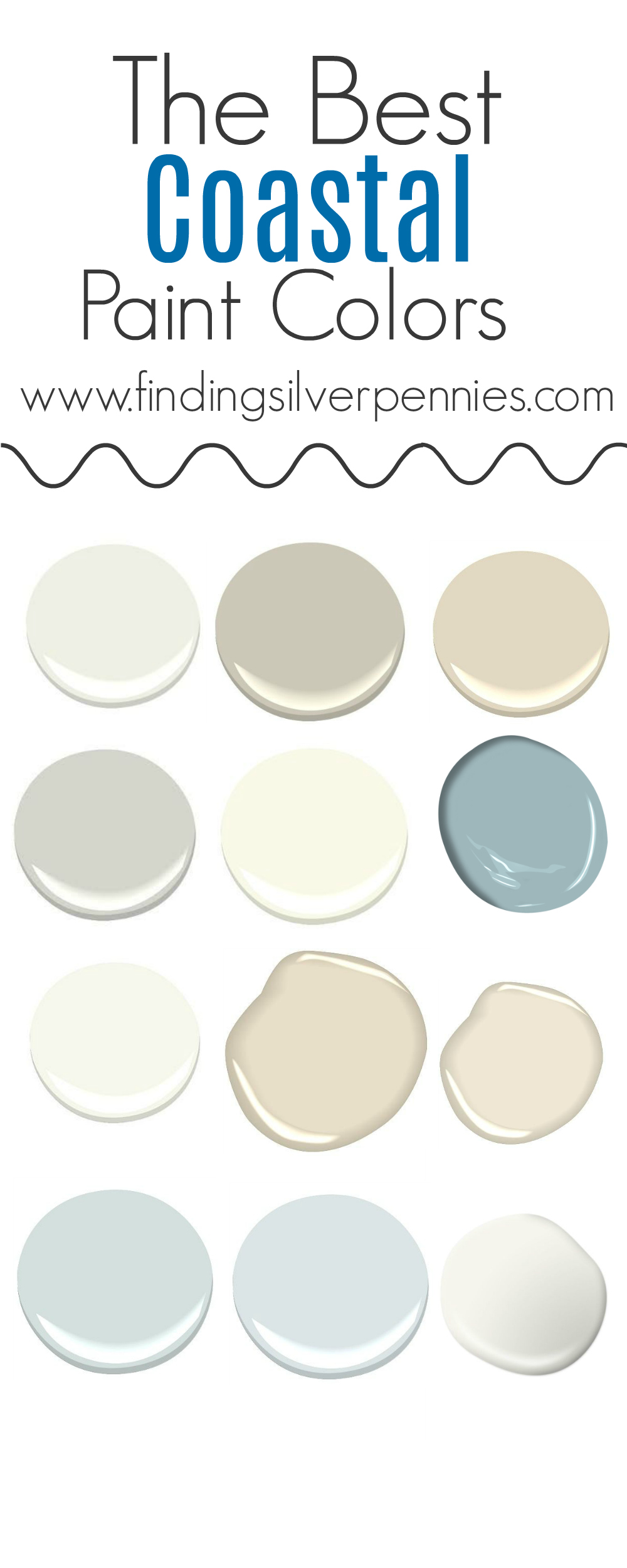 The colors of our home finding silver pennies for Popular light paint colors