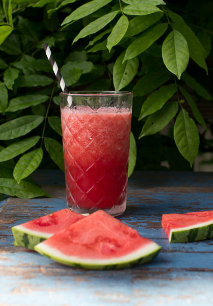 Healthy Watermelon Slushies
